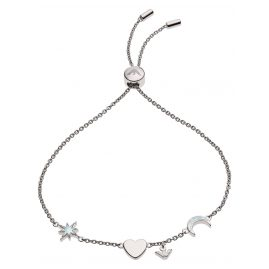 Emporio Armani EG3389040 Silver Ladies' Bracelet Star, Heart, Moon