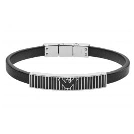Emporio Armani EGS2728040 Men's Bracelet Black Leather