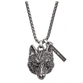 Emporio Armani EGS2659040 Herren-Halskette mit Fuchs-Anhänger