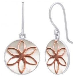 Julie Julsen JJER0617.8 Ladies' Earrings Flower of Life Silver