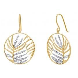 Julie Julsen JJER0833.3 Damen-Ohrringe Palmenblatt Goldfarben