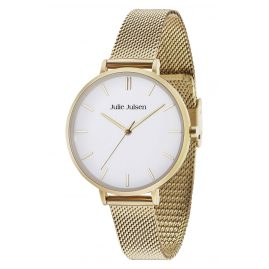 Julie Julsen JJW10YGME Ladies' Watch Pure Gold Tone Mesh
