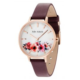 Julie Julsen JJW20RGL-5 Ladies' Watch Flower Rosé Burgundy