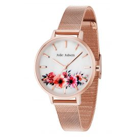 Julie Julsen JJW20RGME Ladies' Watch Flower Rosé Mesh 2.0