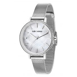 Julie Julsen JJW41SME Ladies' Watch Sparkle Silver Mesh