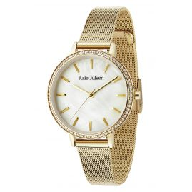 Julie Julsen JJW41YGME Ladies' Watch Sparkle Gold Tone Mesh