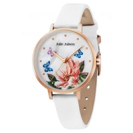 Julie Julsen JJW90RGL-9 Ladies' Watch Flower and Butterflies