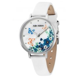 Julie Julsen JJW90SL-9 Ladies' Wristwatch Flowers and Butterflies