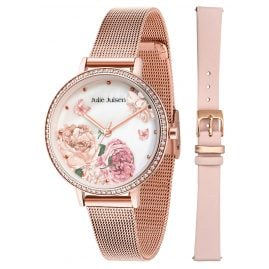 Julie Julsen JJW71RGME Ladies' Watch Set The Secret Garden Rose-Tone