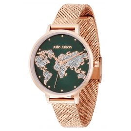 Julie Julsen JJW1202RGME-G Ladies' Watch World Ø 38 mm