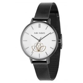 Julie Julsen JJW1100BLKME Damenuhr Lotusflower Ø 38 mm
