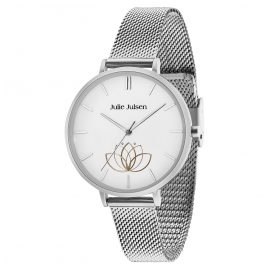 Julie Julsen JJW1100SME Damen-Armbanduhr Lotusblüte Ø 38 mm