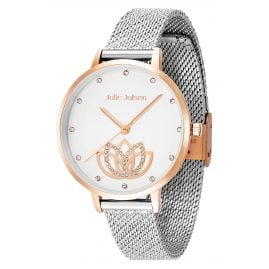 Julie Julsen JJW1018SRGME Damen-Armbanduhr Lotus Flower Ø 36 mm