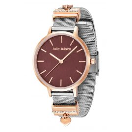 Julie Julsen JW1230RGME-1 Women's Watch Heart Toffee Two-Colour rose gold / silver