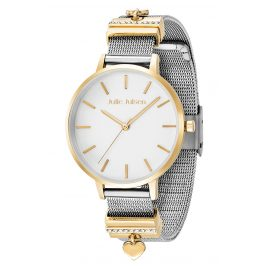 Julie Julsen JJW1230YGME Ladies Watch Heart Ø 36 mm Two-Colour gold / silver