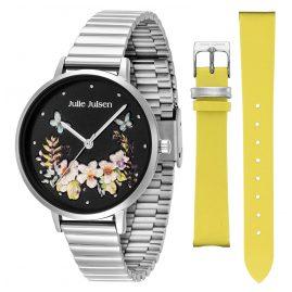 Julie Julsen JJW1198SM Damen-Armbanduhr Geschenkset Secret Garden Lemon