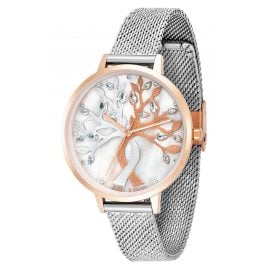 Julie Julsen JJW1455RGSME Ladies' Watch Tree of Love Mother-of-Pearl