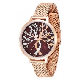 Julie Julsen JJW1455RGME Damen-Armbanduhr Tree of Love Rosé Mocca