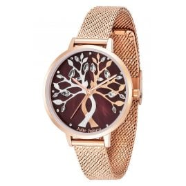 Julie Julsen JJW1455RGME Women's Watch Tree of Love Rose Mocca