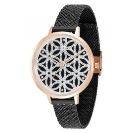 Julie Julsen JJW1235G38RGBLKME Ladies' Watch Flower of Life Black