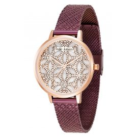 Julie Julsen JJW1235G34-RGVME Ladies' Watch Flower of Life Purple