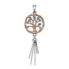 Julie Julsen JJ7955.4 Ladies Chain Pendant tree of life Rose