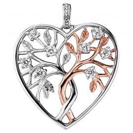 Julie Julsen JJPE0466.8 Heart Pendant Tree of Life Two-Tone