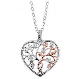 Julie Julsen JJNE0504.8 Ladies' Necklace Tree of Life Heart