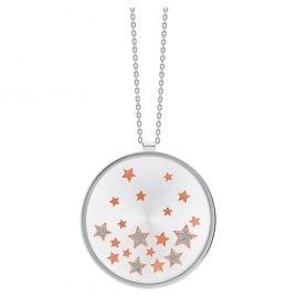 Julie Julsen JJNE0627.1 Damen-Halskette mit Anhänger Stars Silber 925