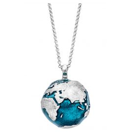 Julie Julsen JJNE0518.1BL Ladies' Pendant Necklace World Silver-Blue