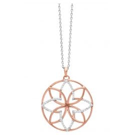 Julie Julsen JJNE0717.8 Ladies' Necklace Lotus Flower silver / rose gold