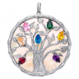 Julie Julsen JJPE0757.1 Pendant Tree of Life Silver / Mother-of-Pearl