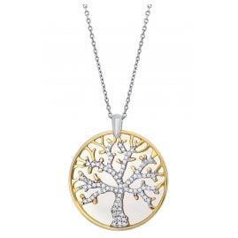 Julie Julsen JJNE0861.3 Damen-Kette Lebensbaum Silber Bicolor
