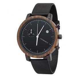Kerbholz Mens Chronograph Franz Sandalwood/Midnight Black