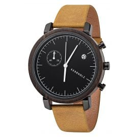 Kerbholz Chronograph Mens Watch Franz Sandalwood/Mustard
