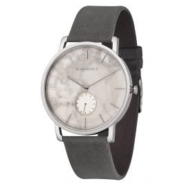 Kerbholz Men's Watch Fritz White Marble/Asphalt