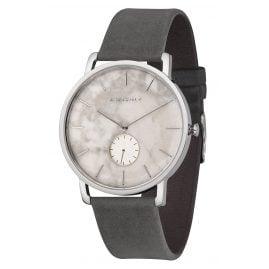 Kerbholz Herren-Armbanduhr Fritz Weißer Marmor/Asphaltgrau