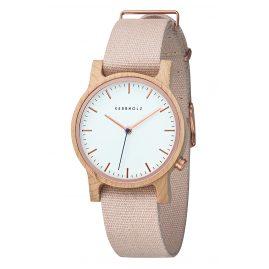 Kerbholz Damen-Armbanduhr Wilma Ahorn/Rosé