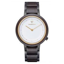 Kerbholz Damen-Armbanduhr Holzuhr Thea Sandelholz/Gold