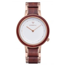 Kerbholz Ladies' Wood Watch Thea Rosewood/Rose Gold