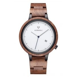 Kerbholz Men's Watch Lamprecht Walnut/Silver