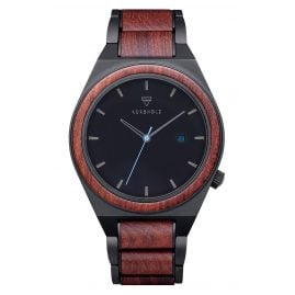 Kerbholz Men's Wood Watch Paul Rosewood/Blue