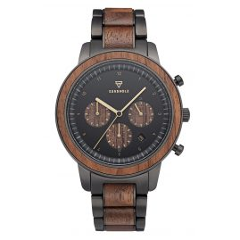 Kerbholz Chronograph Men's Wooden Watch Maximilian Walnut/Black