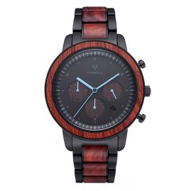Kerbholz Men's Watch Chronograph Maximilian Rosewood/Black