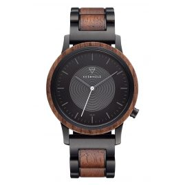 Kerbholz Solar Men's Watch Walnut/Black Steel