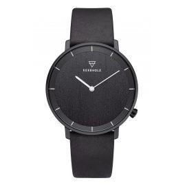 Kerbholz Herren-Armbanduhr Mattis Dunkles Holz/Mitternachtsschwarz