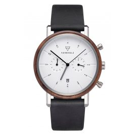 Kerbholz Men's Chronograph Johann Walnut/Midnight Black