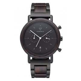 Kerbholz Men's Watch Chronograph Johann Sandalwood/Black Steel