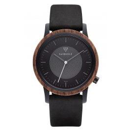 Kerbholz Solar Men's Watch Fred Walnut/Midnight Black