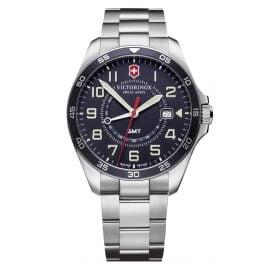 Victorinox 241896 Men's Watch FieldForce GMT with Steel Bracelet